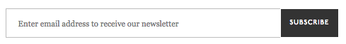 Bad example of an email newsletter subscribe request