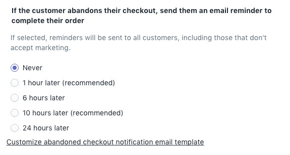 How to run a Shopify Cart Abandonment campaign